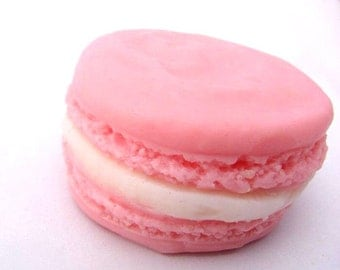 Strawberry French Macaroon Soap - Cream filled