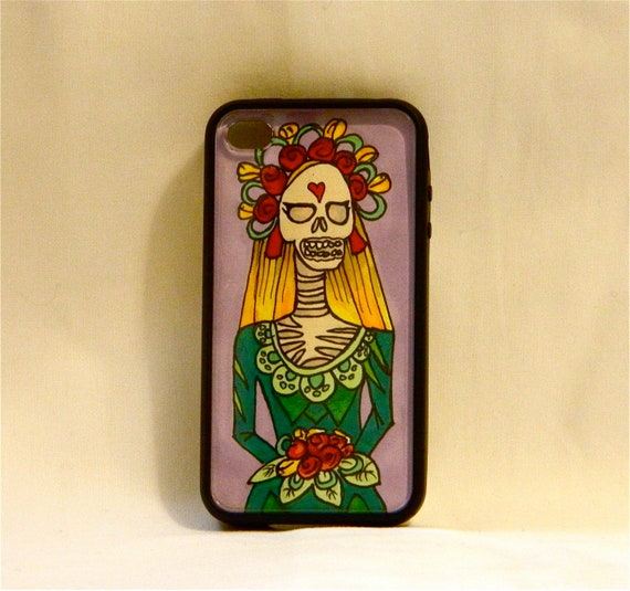 Afterlife Bride, iPhone case, iPhone cover, iPhone 4/4/s, day of the dead, dios del los muertos, hipster, skeleton, unique, one of a kind