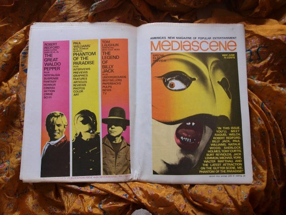 Mediascene Magazine 1975 Avenger Steranko Stepford Wives Fantastic Four Werewolf Sherlock Holmes Waldo Pepper