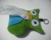 Putter the Owl Doggie Poo Bag Holder - Green and Blue
