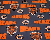 Cotton novelty fabric, Chicago Bears, by Fabric Traditions