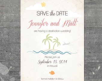 Printable Save the Date - Beach Destination