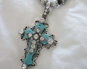 Western jewelry cowgirl,turquoise jewelry,chunky cross necklace,cowgirl jewelry,horse jewelry,rodeo,barrel racer