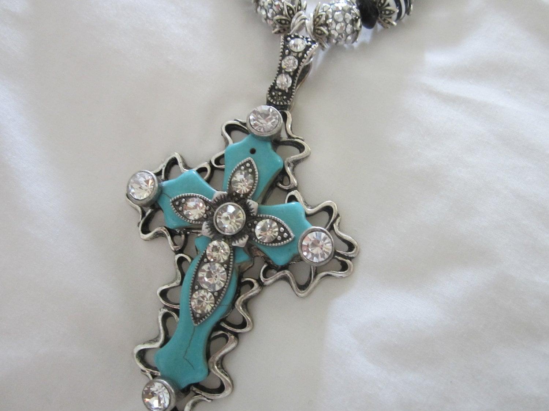 Western Jewelry Cowgirlturquoise Jewelrychunky Cross