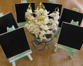 Mini Wooden Wedding Chalkboard Signs & Easels Distressed Rustic Inspired  Country Chic  Menu Dessert Table Number Signs