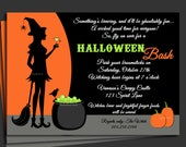 Halloween Invitation Printable with FREE SHIPPING - Cocktails and Cauldrons