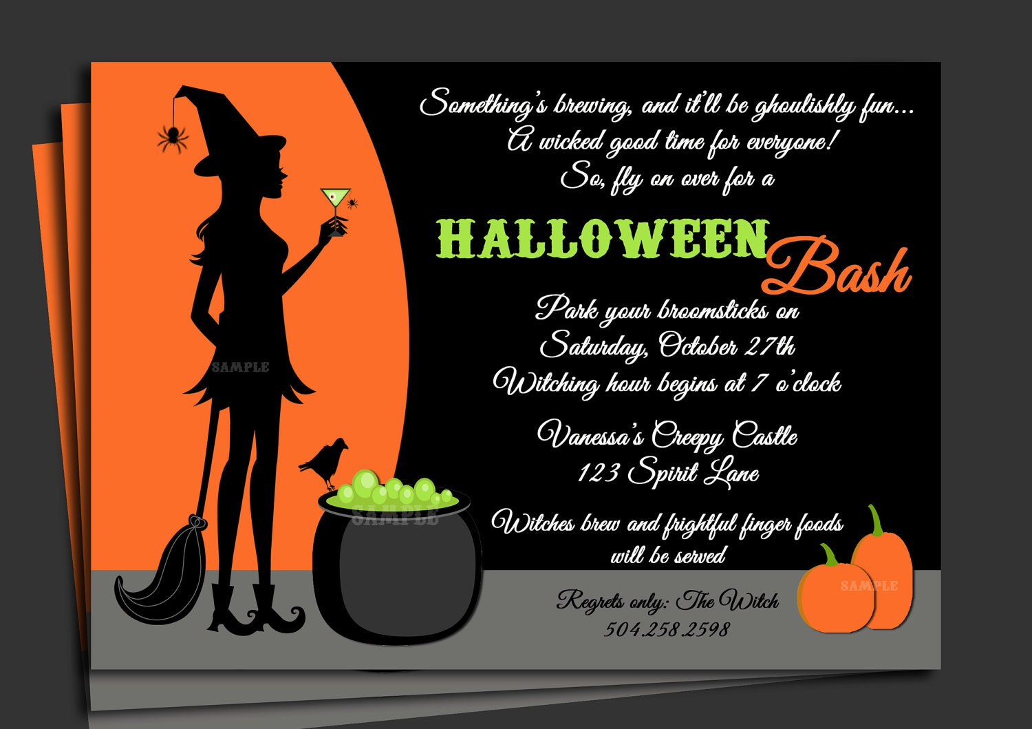 sample halloween invitations
