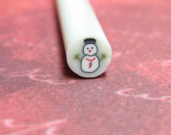 Polymer clay canes winter snowman 1pcs for miniature foods decoden and nail art supplies