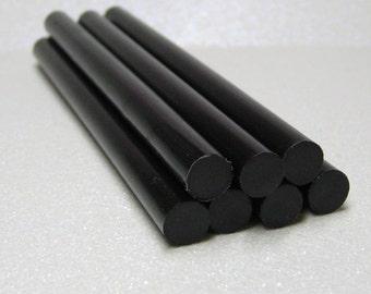 hot glue sticks 7pc black kawaii opaque for mini glue guns