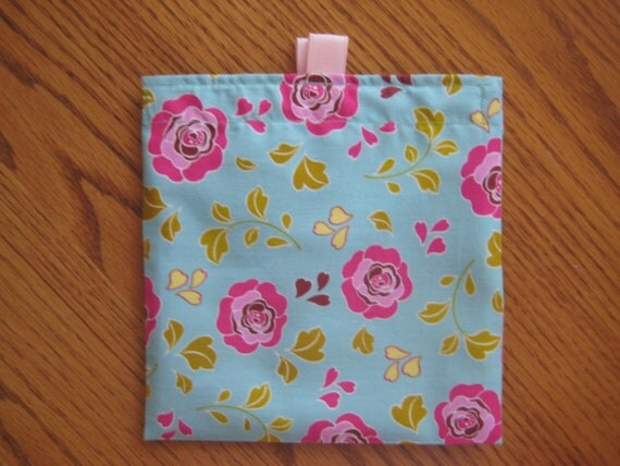 Promotional Sale-ONE for 2.50-Reusable Sandwich and Snack Bag, Flowers