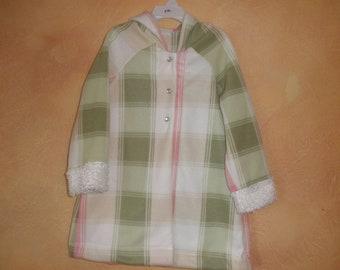 Plaid Fleece Coat