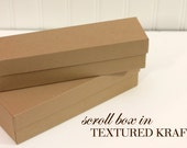 Kraft Scroll Box for Card Set Packaging Invitation Boxes