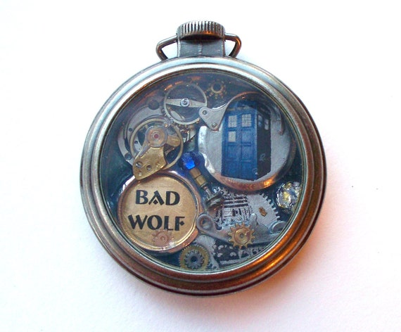 doctor who pocket necklace bad wolf