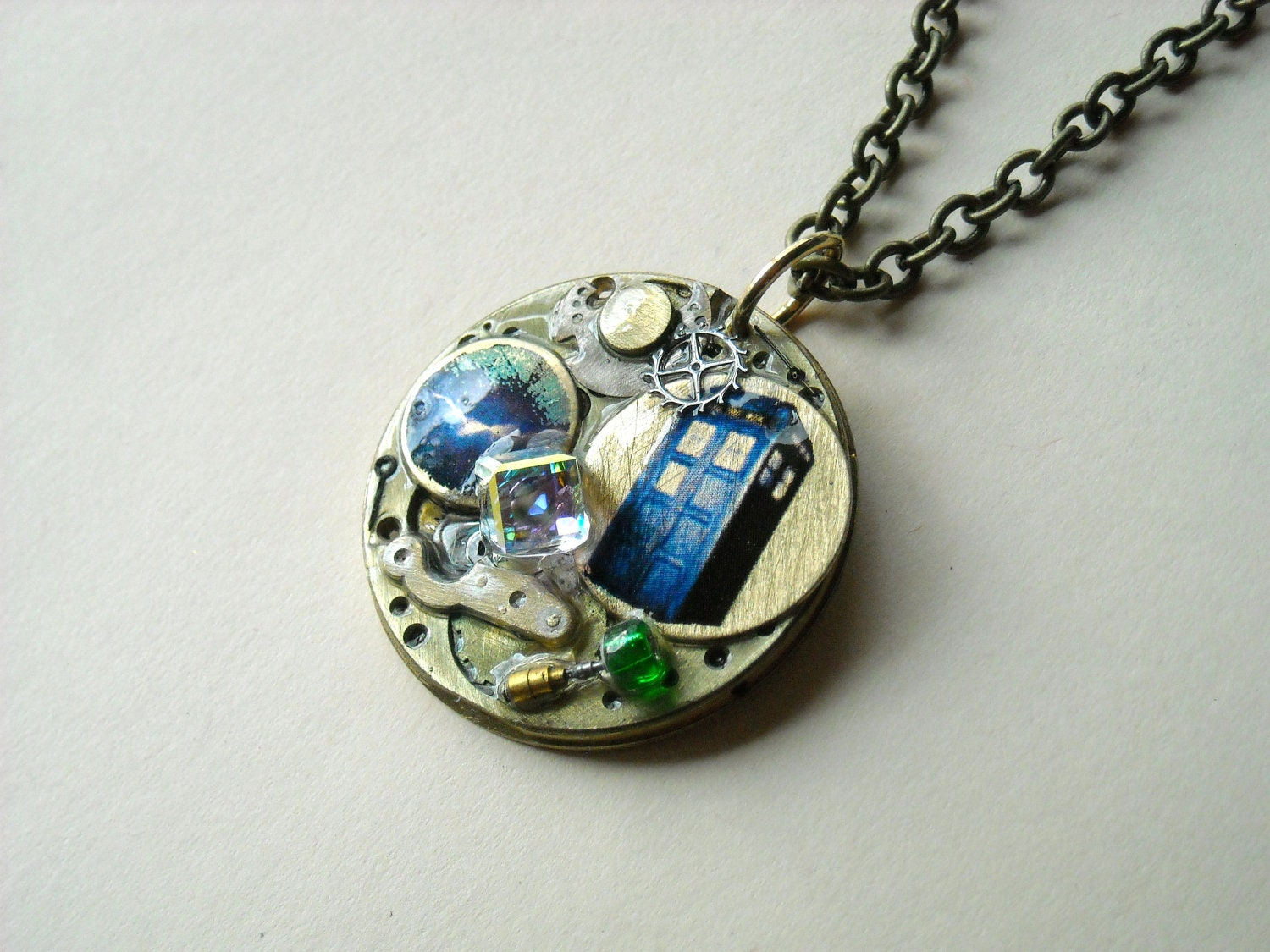 doctor who necklace the in s wall