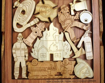 Community Heroes Firefighters Wood Puzzle Brain Teaser
