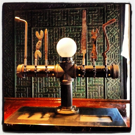 Light Tower Globes: Custom 6 Tap Beer Draft Tower With Globe Light By TappedBeer