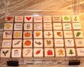 HOLIDAYS Rubber Stamp Set
