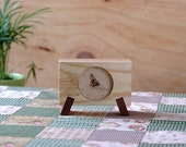 Desk clock Handmade Wood Clock TC Series one -LC1M0T55 -