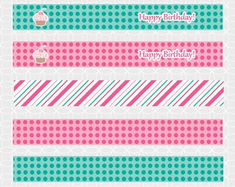 Party Printable Cupcake Party Mini Flags