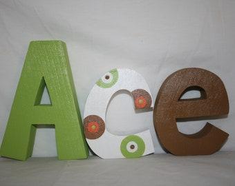 Baby boy nursery letters Wood letters Boys nursery Wooden letters for nursery Nursery letters Wood letters Name letters Custom name letters