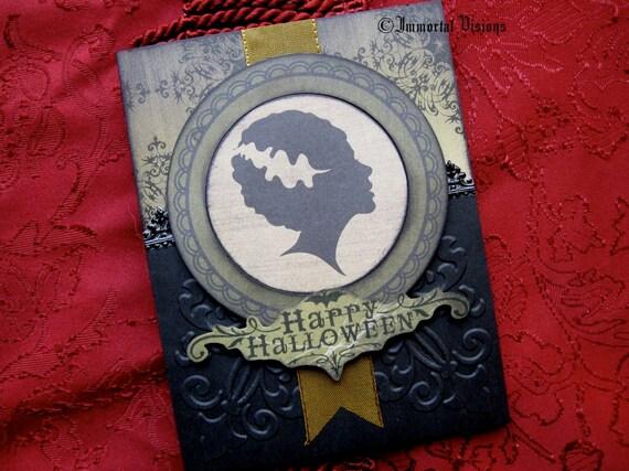 Gothic Halloween Greeting Card - Bride of Frankenstein