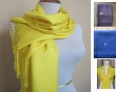 Deep Yellow Pashmina Scarf, Shawl, Wrap, bridal shawl, bridesmaids shawl, bridal gift