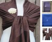 Pashmina, Dark Brown (coffee) Pashmina Scarf, Shawl, Wrap, bridal shawl, bridesmaids shawl, bridal gift