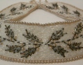 Vintage Beaded Collar // Peter Pan Collar