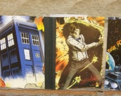 6 10th or 11th Doctor Who Comic Book Pencil & Mini Notebook Party Pack