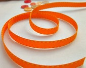 Orange and Yellow saddle grosgrain ribbon -3/8'' width-sold by yard