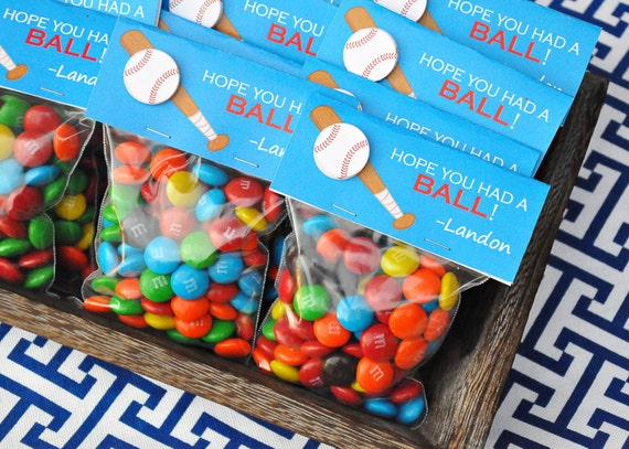 PRINTABLE CANDY BAG labels Baseball Party Collection