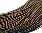 Surplus Sale - 2.5mm Chocolate Brown Leather Cording - 15 feet piece