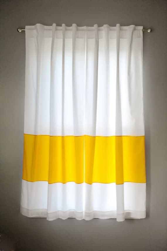 Nursery Decor Custom Drapery Panels Modern Curtains