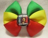 Bob Marley One Love Hair Bow