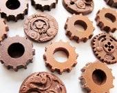 50 Chocolate Steampunk Gears