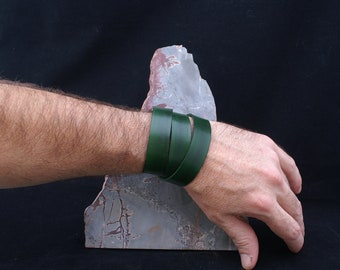 Hand Cut and Dyed Flat Leather...20mm wide x 2mm thick...Perfect for Wrap Bracelet 20DG