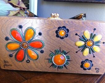 Enid Collins box bag purse flowers