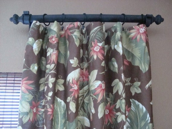 Tropical Print Pair 50X84 Unlined