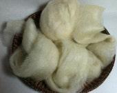 Romney Wool Roving - Soft, White -4 oz