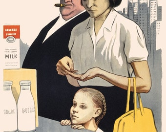 Soviet poster. Death to World Capitalism / For them its plenty for the few. We strive for plenty for all 1957
