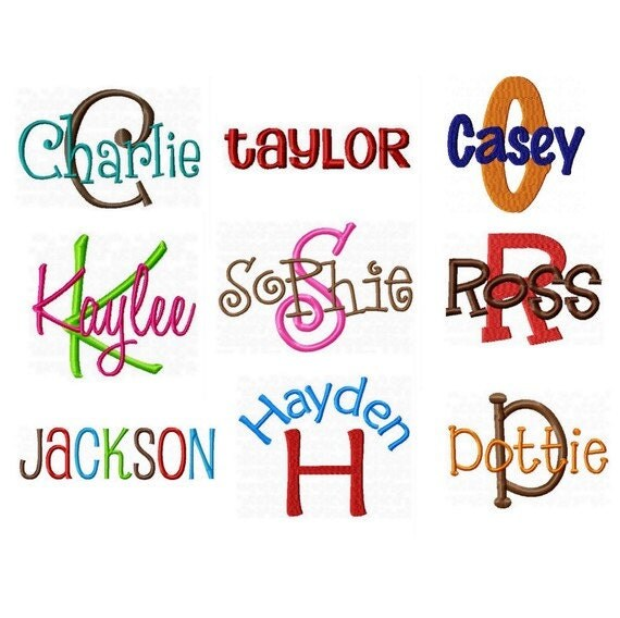 All embroidery fonts pack alphabet designs by