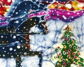 Horses Trot to the Christmas Tree  -  Holiday  Christmas Cards