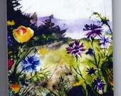 Wild Flower Art Tile Marquette,MI