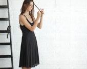 Black Knee Length Women Dress, Black Dress NOW 30% off