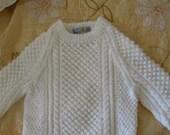 Irish fisherman sweater