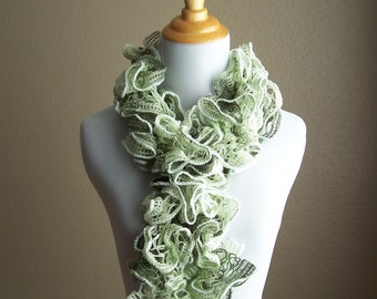 Lace Fashion Scarf Light Green White