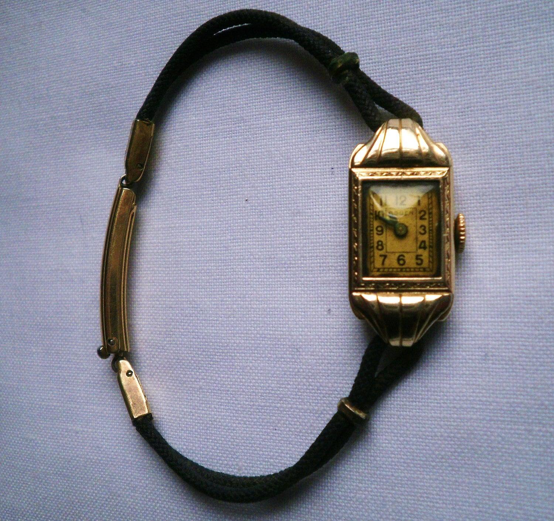 vintage gold filled 15 jewel gruen watch. Black Bedroom Furniture Sets. Home Design Ideas