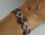 Fantastic Ruby and Diamond Platinum Bracelet