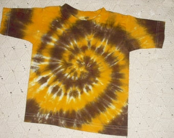 Tie dye shirt, 3 toddler - Autumn spiral