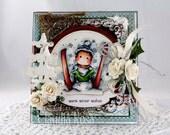 Magnolia Edwin Christmas or Winter Birthday Card